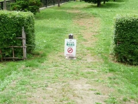 寺の沢川コース:小学校の敷地内を通り抜ける