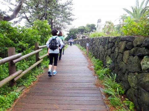 第七コース:海岸線沿いに整備された歩道