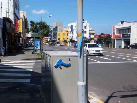 第十七コース:大通り沿いの標識